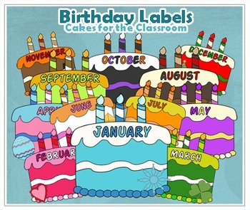 Cakes for the Classroom- Birthday Labels