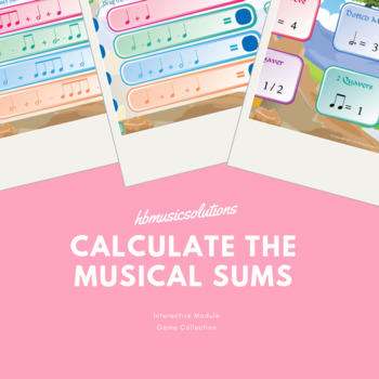 Calculate The Musical Sums Interactive Game