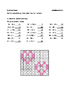 Calculate and color - Adding and subtracting - For Valenti
