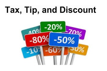 Calculate tax, tip and discounts SB