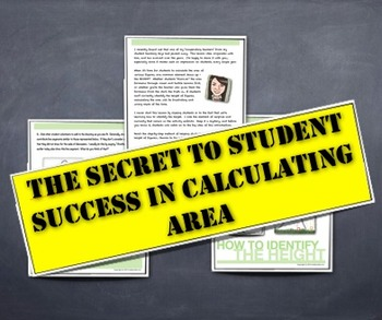 """Calculating AREA - A Lesson """"Secret"""" Strategy for Student"""
