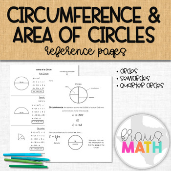 Calculating Circumference & Area of Circles, Semicircles a