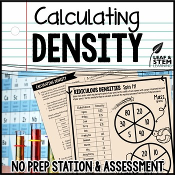 Calculating Density Center Game and Assessment