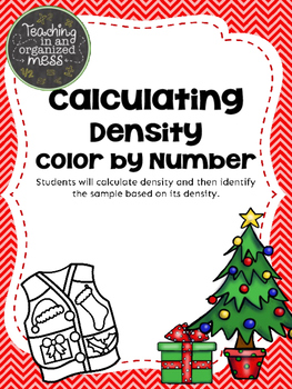Calculating Density Christmas Color by Number