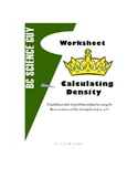 Calculating Density Worksheet