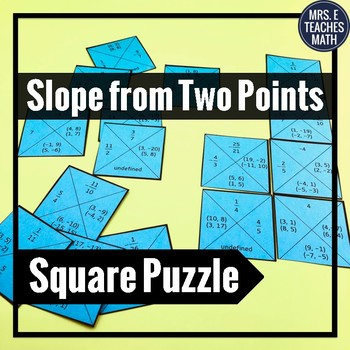 Slope from Two Points Square Puzzle