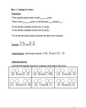 Calculating Slope using the Slope Formula (scaffolded)