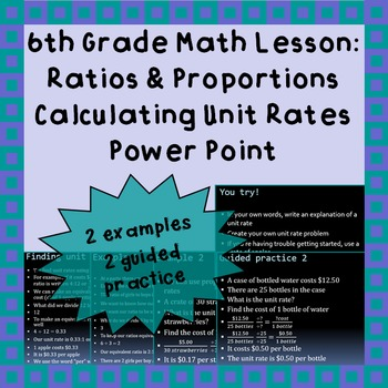 Calculating Unit Rates - A Power Point Lesson
