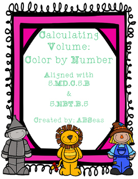Volume with Multi-Digit Multiplication Color by Number