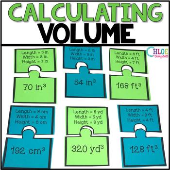 Calculating Volume of Rectangular Prisms [Matching Puzzle