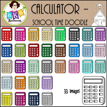 Calculator-School Time Doodle {Graphics for Commercial Use}