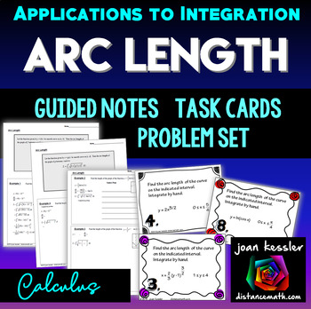 Calculus  Arc Length Task Cards and Graphic Organizer