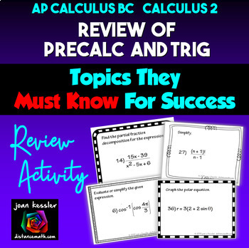 Calculus BC / Calculus 2 Back to School Review