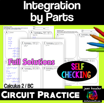 Calculus BC Calc 2 Integration by Parts Self - Checking C