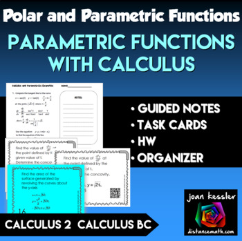 Calculus BC  Parametric Equations and Calculus  Task Cards