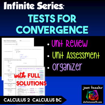 Calculus BC Tests for Convergence  Review or Test plus Bon