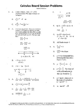 Calculus Board Sessions,Session 2,Functions,Trig,Slope,Lin