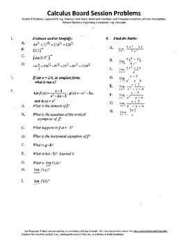 Calculus Board Sessions,Session 4,Functions,Limits,Functio