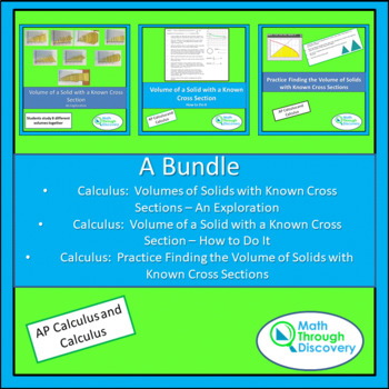Calculus Bundle - Volume using Known Cross Sections