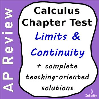Limits and Continuity Chapter Test + Complete Teaching Sol