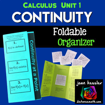 Calculus Continuity Foldable Activity - Interactive  Trifold