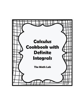 Calculus Cookbook Activity with Definite Integrals