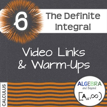Calculus: Definite Integral - Warm-Ups