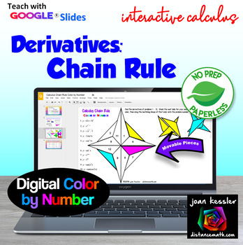 Calculus Derivatives - Chain Rule Color by Number with GOO