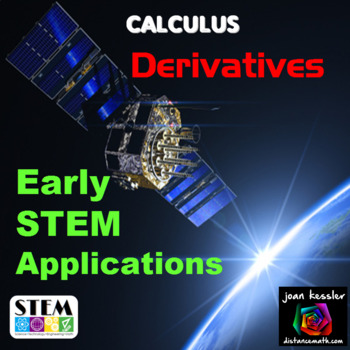 Calculus Derivatives Early STEM Real World Applications Ta