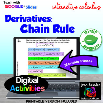 Calculus Digital Interactive Derivatives by the Chain Rule