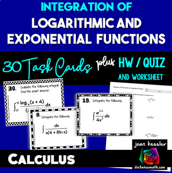 Calculus Integration of Exponential and Logarithmic Functi