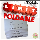 Calculus Limits Foldable Continuity & Differentiability
