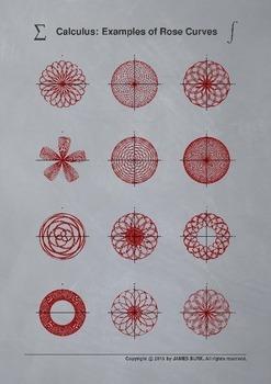 Calculus: Polar Coordinates, Rose Curves [Gray]