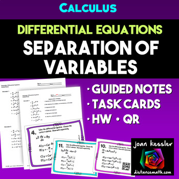 Calculus Differential Equations Separation of Variables