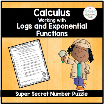 Calculus Super Secret Number Puzzle Working with Natural L
