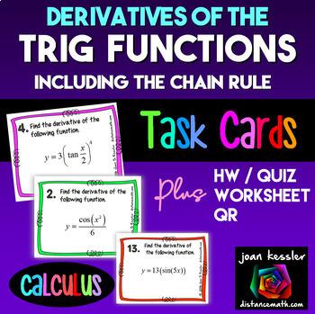 Calculus  Derivatives of Trigonometric Functions w/ Chain