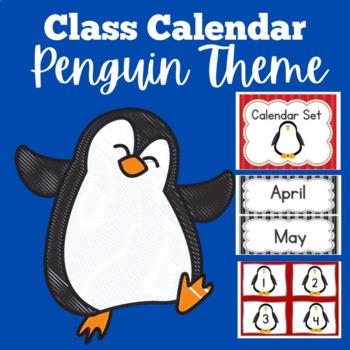 Calendar Set | Classroom Calendar | Penguin Themed Calendar