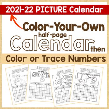 Calendar 2017 - CYO Picture Calendar and Color or Trace Nu