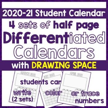 Calendar 2017, Differentiated DIY Picture Calendar- Write,
