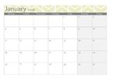 Calendar 2016 month per page - BLANK