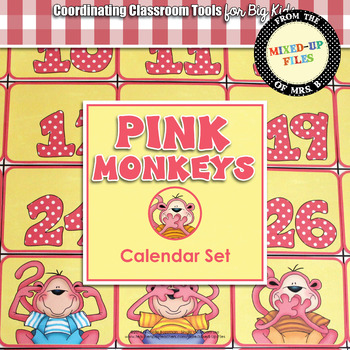 Pink Monkeys Calendar Set