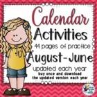 Weekly Calendar Practice Activities