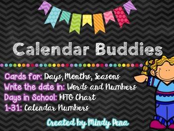 Calendar Buddies Bulletin Board Set