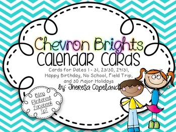 Calendar Cards {Chevron Brights}