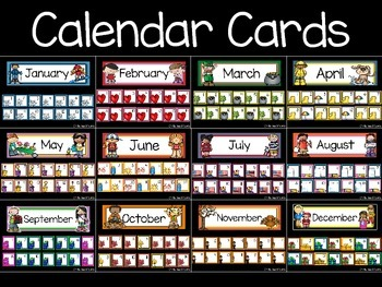 Calendar Cards {Bundle}