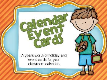 Calendar Cards: Calendar Holiday and Event Cards