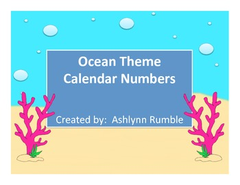 Calendar Cards - Ocean Theme