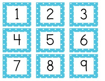 Calendar Cards (Polka Dot BLUE)