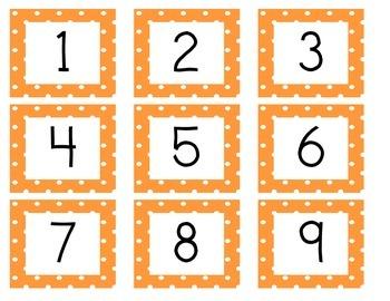 Calendar Cards (Polka Dot ORANGE)