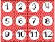 Calendar Cards Set - 4 Chevron Designs Turquoise, Red, Dar